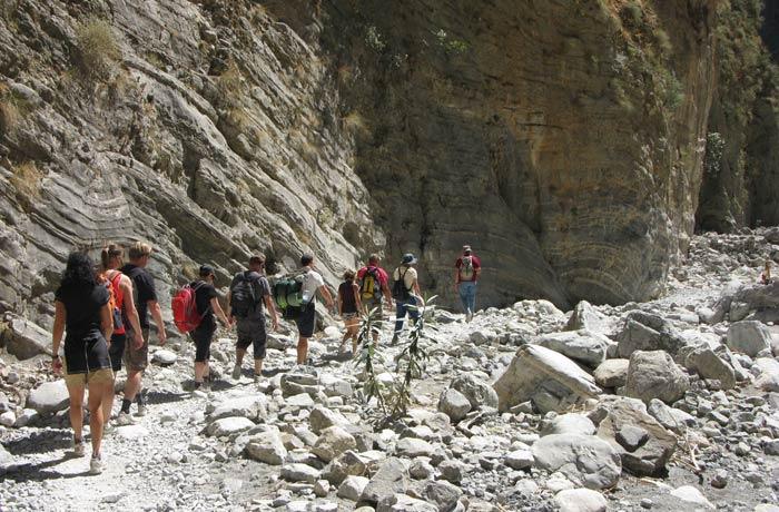 sendero estrecho Garganta de Samaria