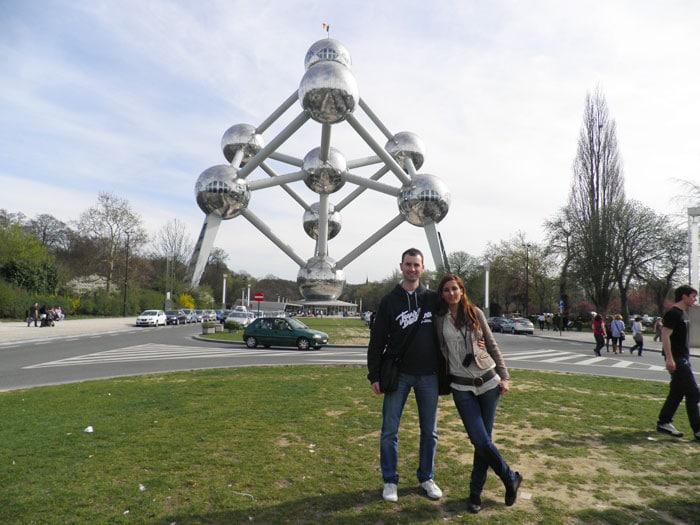 Vista del Atomium de Bruselas