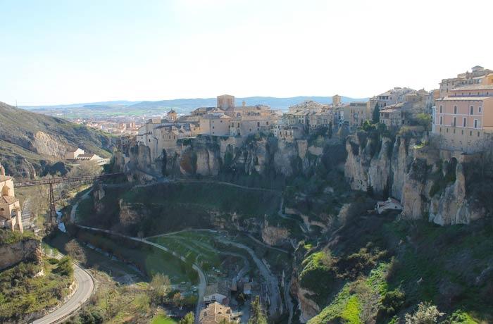Vista desde el barrio del Castillo Cuenca en tres días