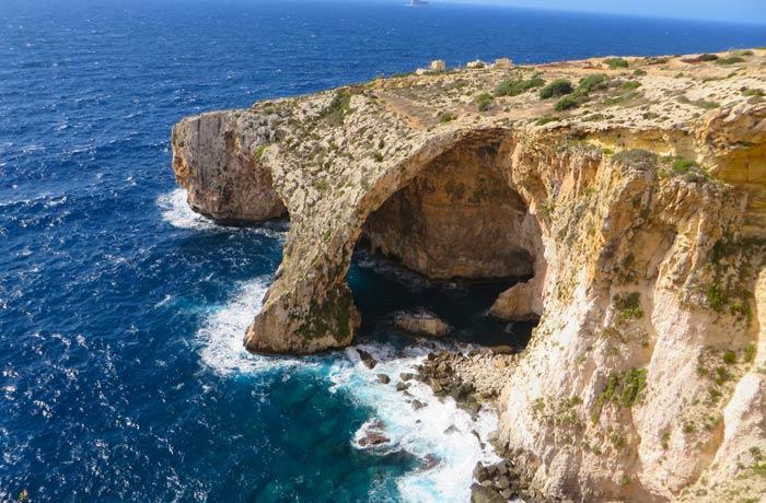 La Gruta Azul de Malta