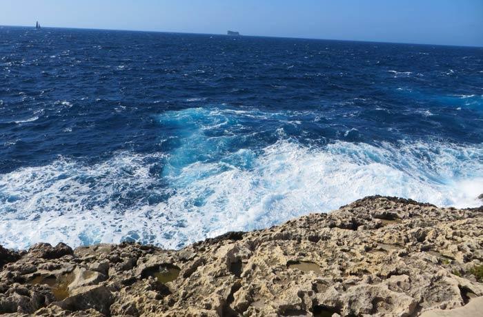 Zona rocosa de Wied iz-Zurrieq Gruta Azul Malta