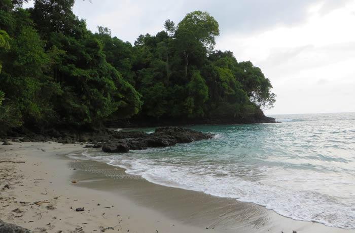 Vista de una de las playas Gemelas Playas de Manuel Antonio