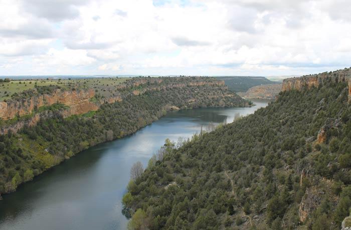 El río Duratón, a su paso por la zona ermita de San Frutos