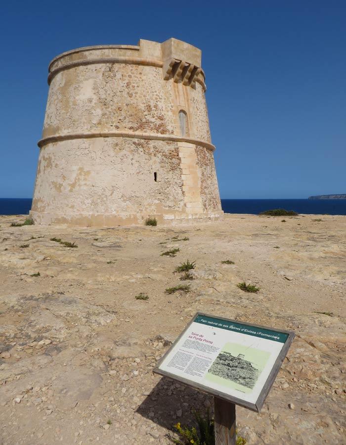 Torre de vigilancia de Punta Prima que ver en Formentera