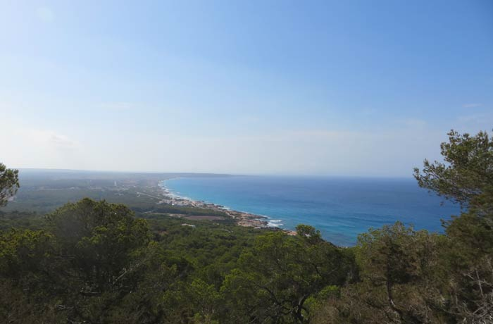 Vistas desde el Mirador de Formentera