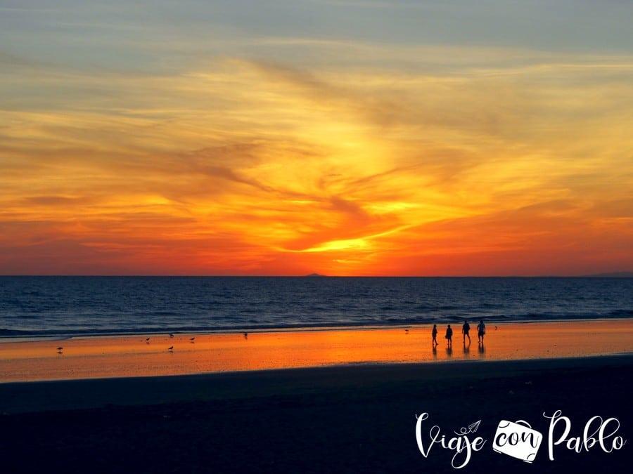 Atardecer en la playa de Punta Umbría playas de Huelva