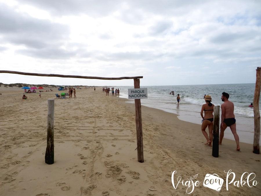 Comienzo de la playa de Doñana playas de Huelva