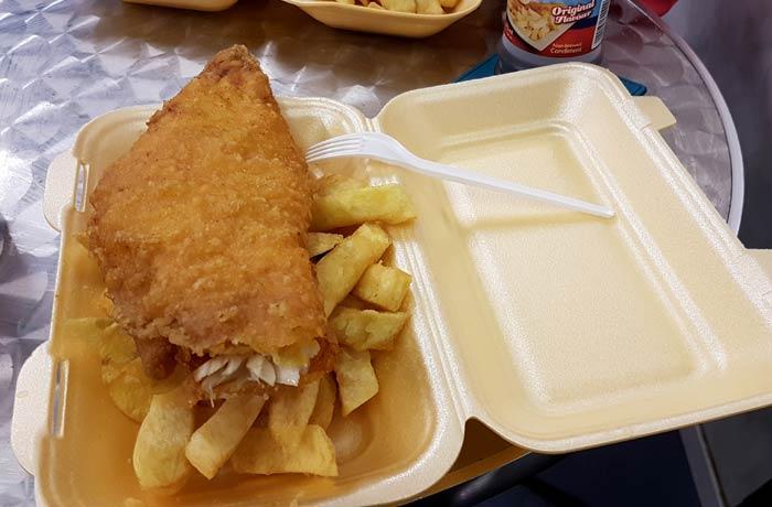 Fish an chips en Belfast una semana en Irlanda