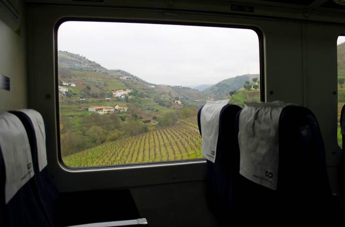 Interior del tren Pocinho Regua