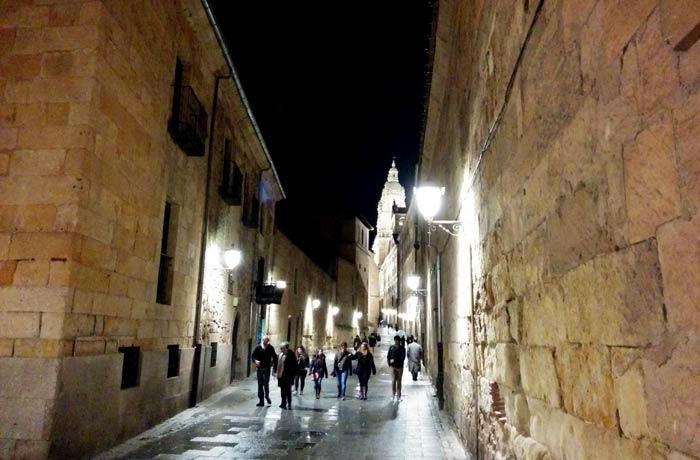 Vista de la calle Compañía Salamanca San Valentín