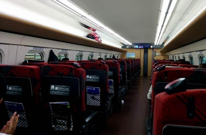 Interior de un tren japonés curiosidades de Japón