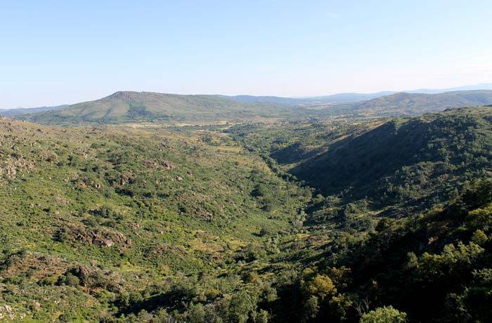 Paisaje que se divisa desde el castillo Sortelha Portugal