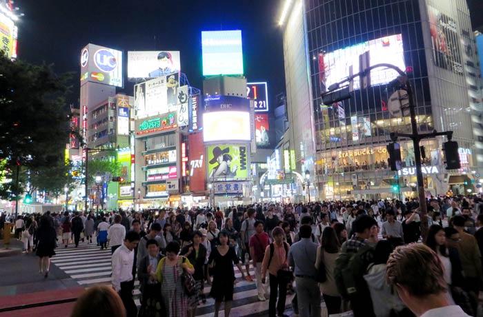Cruzando Shibuya