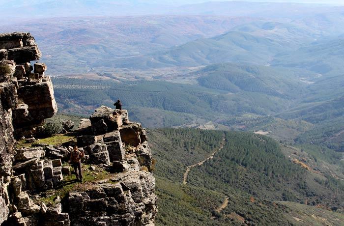 Vistas desde la base de la 'Torrita' Portilla Bejarana