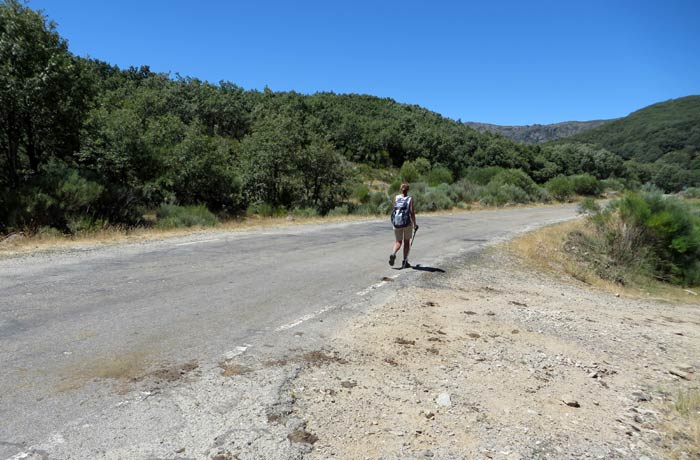 Enlace del camino con la carretera que va a San Martín de Castañeda