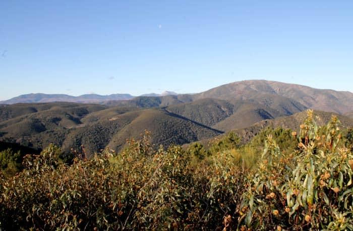 Vista de la sierra de las Quilamas, desde San Miguel de Valero