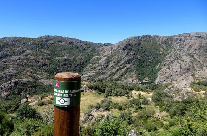Panorámica del cañón del Tera y de la cueva de San Martín