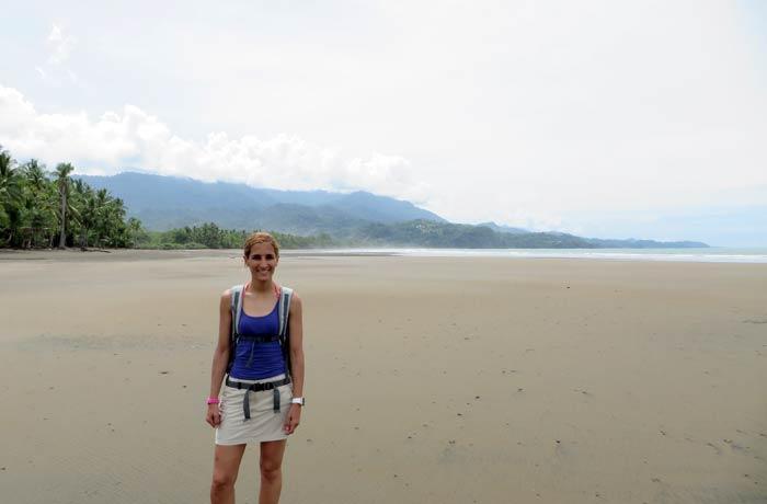 Estefanía, en las playas de Marino Ballena