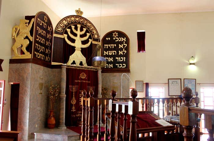 Interior de la sinagoga de Belmonte Portugal
