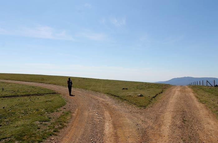 Segundo desvío a la izquierda en la ruta Castillo Viejo de Valero