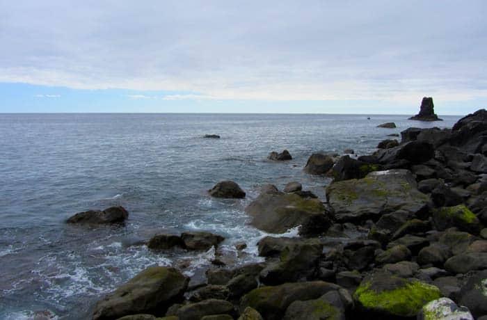 Paisaje rocoso del Calhau da Lapa playas de Madeira