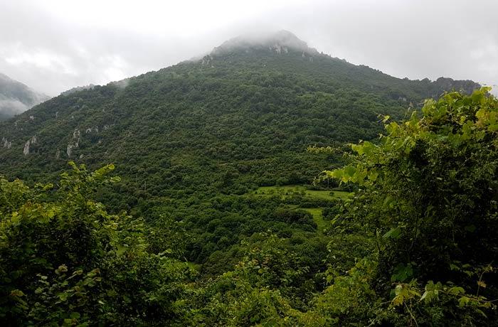 Paisaje del entorno de Villanueva ruta de las Xanas