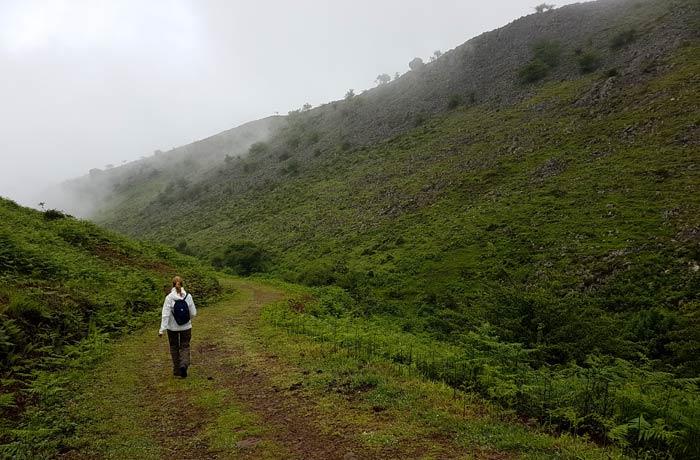 Tramo con menor vegetación por la senda de Valdolayés