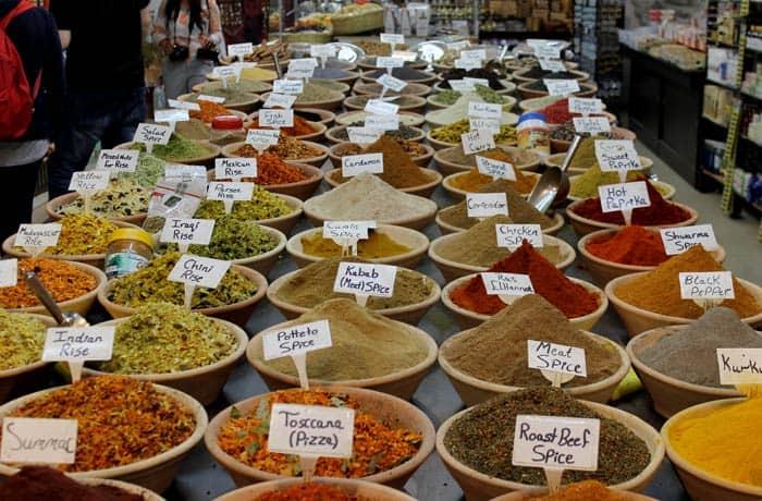 Tienda de especias en la ciudad vieja qué ver en Jerusalén