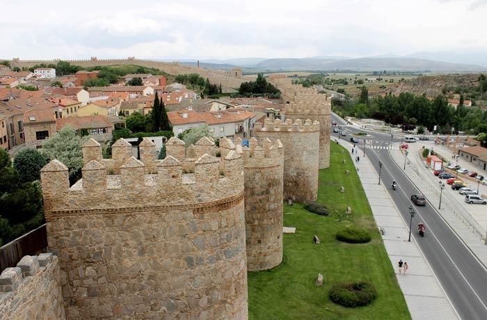 Vista desde la Muralla de Ávila en un día
