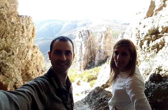 Selfi dentro de la Cueva de la Mora