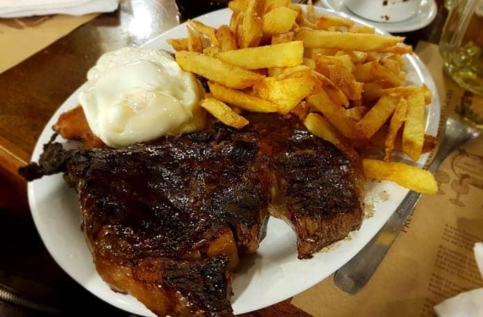 Bife de Chorizo de El Sanjuanino en Buenos Aires Argentina por libre