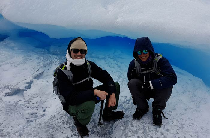 En la caminata sobre el hielo del Perito Moreno Argentina por libre