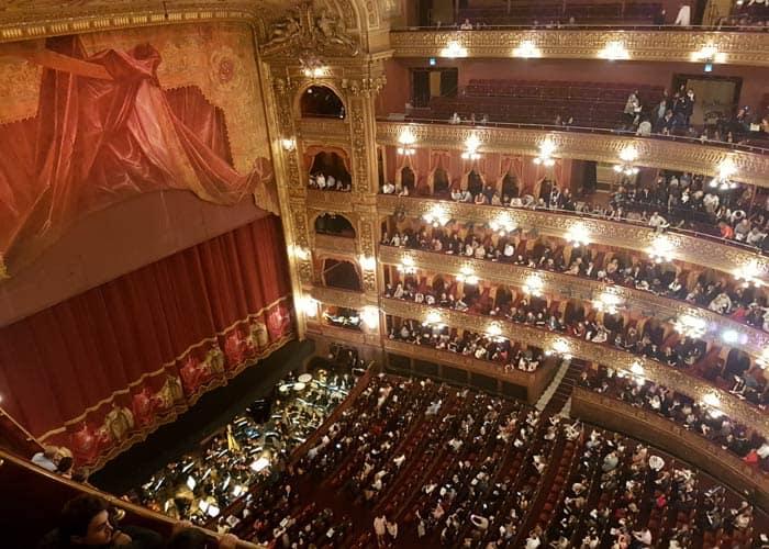 Minutos antes de comenzar el ballet en el Teatro Colón de Buenos Aires Argentina por libre
