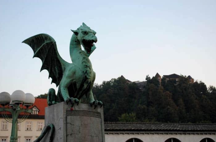 Puente de los Dragones de Ljubljana ruta por Eslovenia