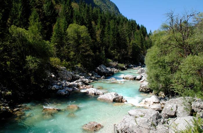 Río Soča ruta por Eslovenia