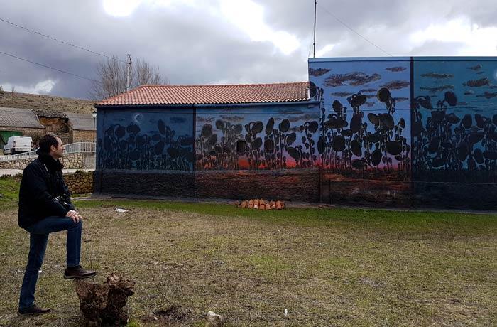 Mural de Porrilló en Tubilla del Lago Ribera del Duero Burgalesa