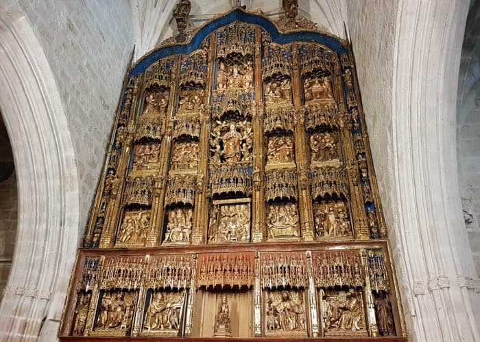 Retablo de la iglesia de Gumiel de Izán Ribera del Duero Burgalesa