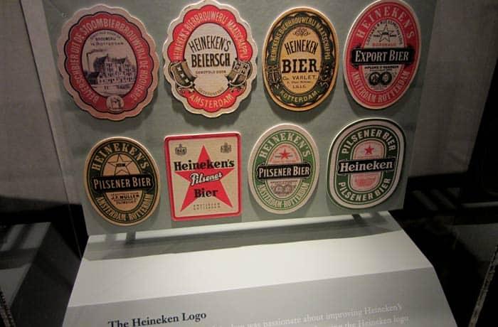 Evolución del logotipo de Heineken Ámsterdam en tres días