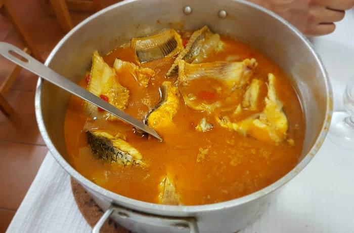 Caldeirada de pescado del restaurante Estibordo de Costa Nova