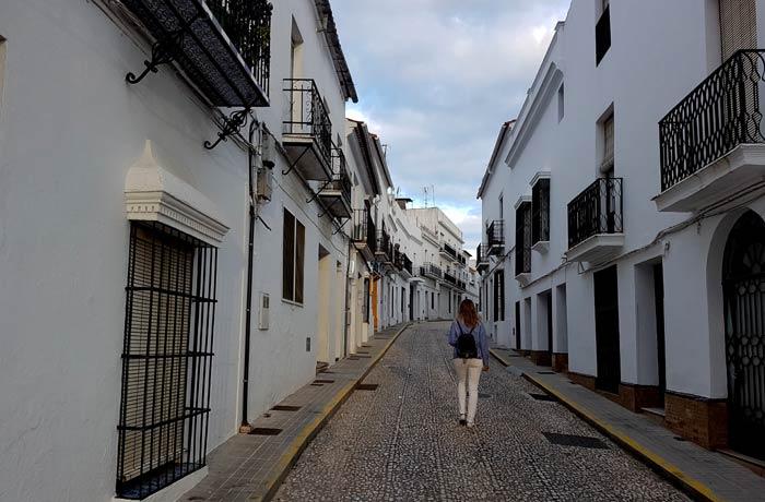 Una de las calles qué hacer en Aracena