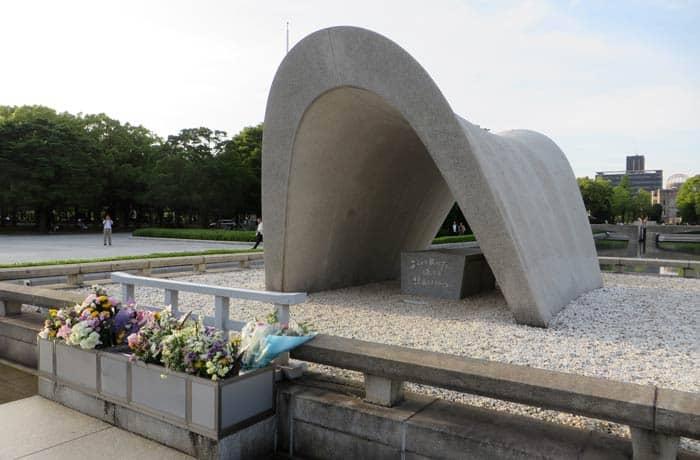 Cenotafio Conmemorativo en el Parque Memorial de la Paz que ver en Hiroshima