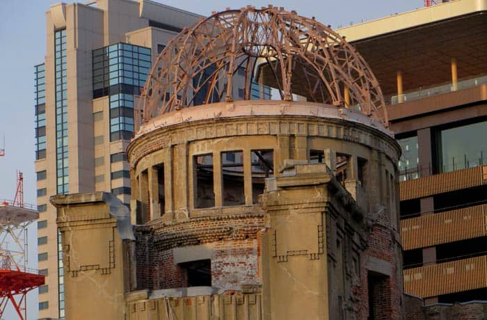 Detalle de la Cúpula Genbaku que ver en Hiroshima