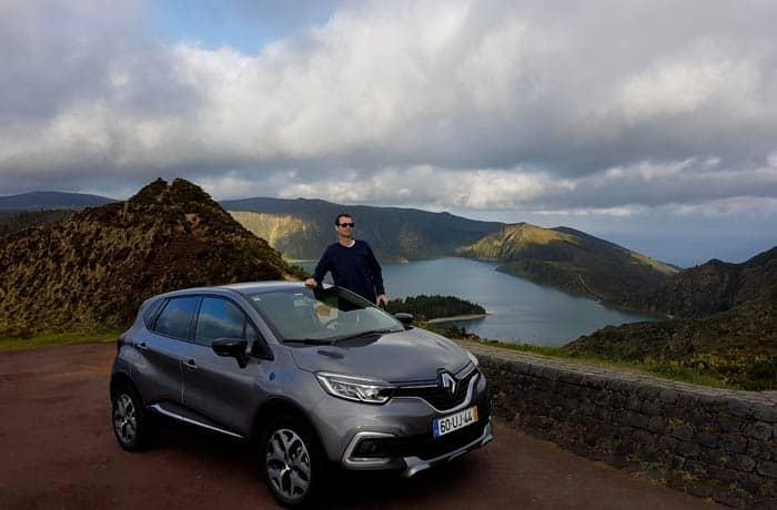 Con el coche de alquiler en el Lagoa do Fogo de Sao Miguel viajar a las Azores por libre