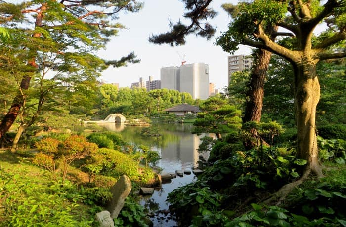 Vista del Jardín Shukkeien que ver en Hiroshima