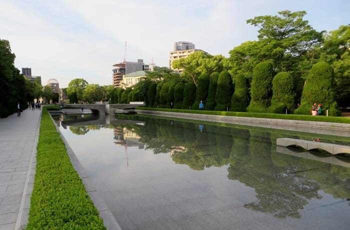 Estanque del Parque Memorial de la Paz que ver en Hiroshima