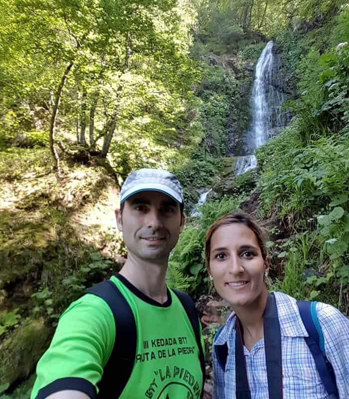 Selfie ante la cascada del Xiblu