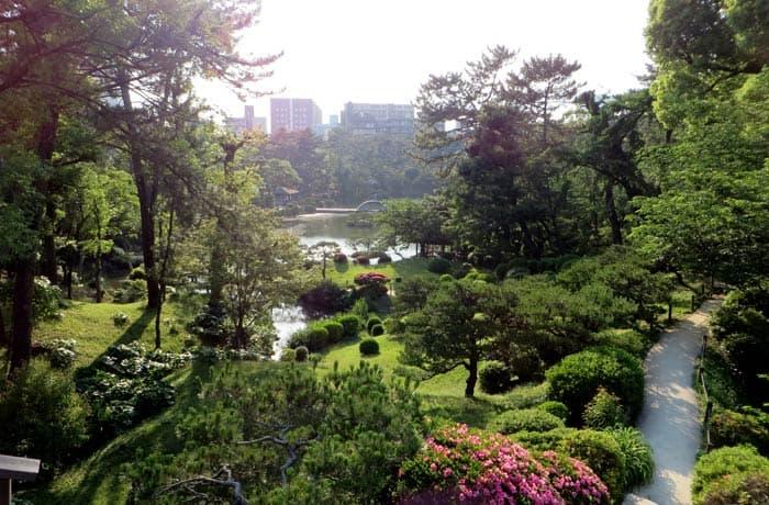 Panorámica del Jardín Shukkeien que ver en Hiroshima
