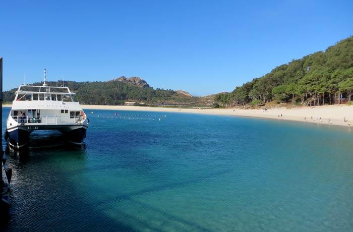 Barco que nos llevó a las Cíes desde Vigo que hacer en las Islas Cíes