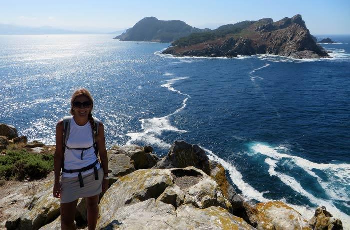 Vistas desde el faro da Porta que hacer en las Islas Cíes