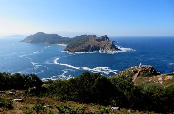 Vistas desde el faro de Cíes de la isla de San Martiño que hacer en las Islas Cíes
